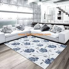 magasin de tapis tapis de salon floral blue gris en 100 acrylique petals 5 pas cher
