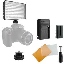 100 Fuji Studio Amazoncom Slim OnCamera Dimmable LED Video Light