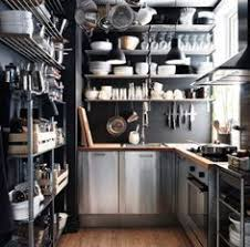 ikea edelstahl küche kleine küche mit faktum schränken mit