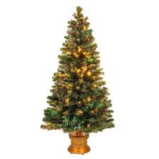 4 Ft Pre Lit Potted Christmas Tree by National Tree Company 4 Ft Fiber Optic Fireworks Evergreen
