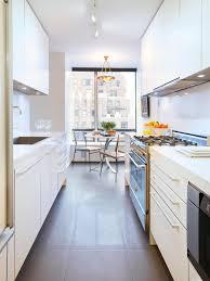 modern loft style galley kitchen kitchen dining color
