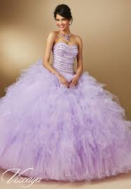 quinceanera dresses by vizcaya jeweled beading on ruffled tulle