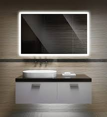 badezimmerspiegel mit beleuchtung led spiegel 80x60 cm badspiegel mit licht design spiegel für bad und gäste wc hinterleuchtet beleuchteter