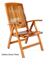 Captains Boat Chair Amazon by Barbuda Adjustable Recliner Chair Westminster Teak Outdoor Furniture