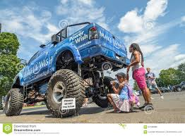 100 Girls On Trucks Make A Wish Foundation Monster Truck With Small Girl And Mother