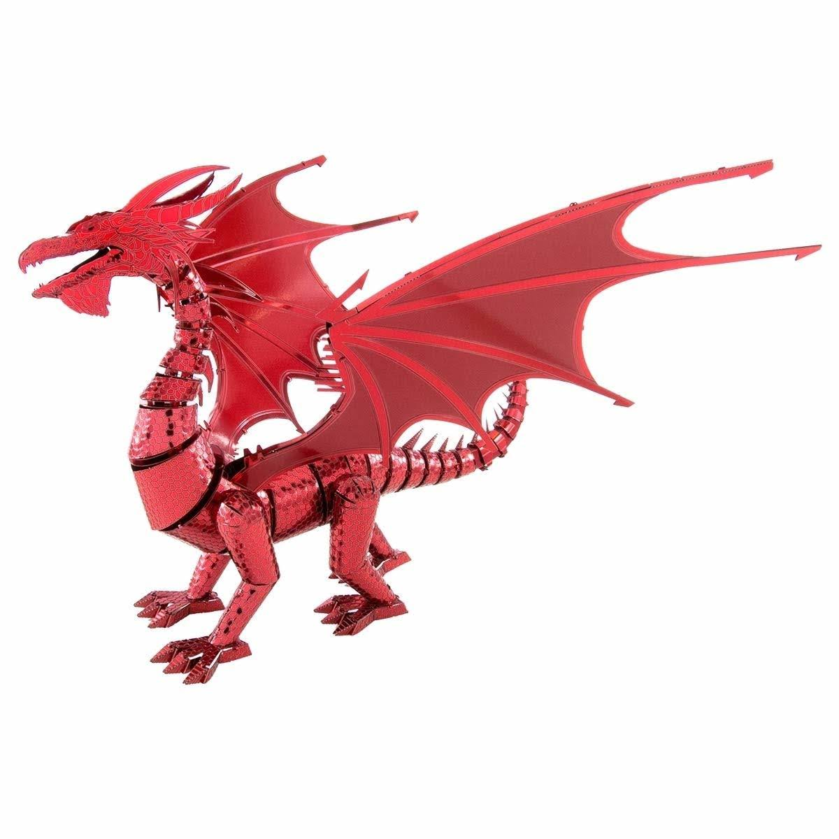 Metal Earth ICONX Red Dragon 3D Model Kit