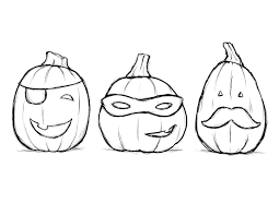 Cute Pumpkin Coloring Pages For Kids