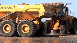 100 Articulating Dump Truck Volvo A25E Articulated Dump Trucks Wheel Loader YouTube