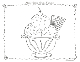 Make Your Own Sundae Coloring Page By BNute Productions