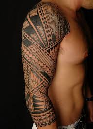 Tribal Tattoo Full Sleeve For Men