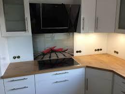 küchenrückwand aus glas glasrückwand spritzschutz auf maß