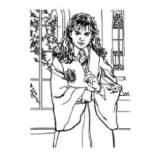 Hermione Granger Hogwarts School Picture To Color