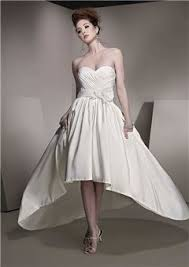 10199 Short Wedding Dresses Gown Renew Vows Draped Low Cut Unusual