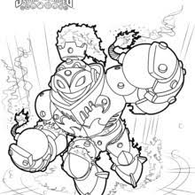 Blast Zone Coloring Pages