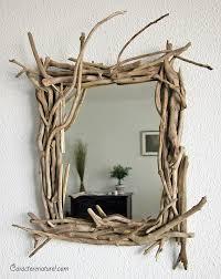 caractère naturel miroir en bois flotté