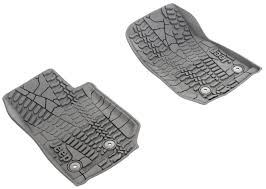 Jeep Commander Floor Mats Oem by Mopar 82213861 Floor Slush Mats With Tire Tread Pattern For 14 17