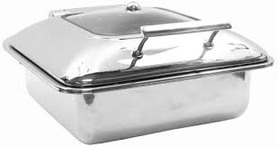 Tablecraft CW40163 Induction Chafer Dish 5 Qt Two Thirds Size Polished Stainless