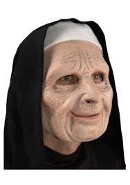 Scary Halloween Half Masks by The Town Scary Nun Mask