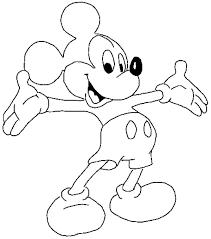 Free Colouring Sheets Cartoon Disney Mickey Mouse For Preschool