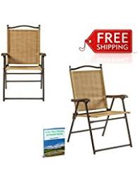 Webbed Lawn Chairs With Wooden Arms by Amazon Com Sling Chairs Patio Lawn U0026 Garden