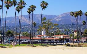 Photos California USA Santa Barbara Beach Palm Trees Cities 2560x1600 Palms