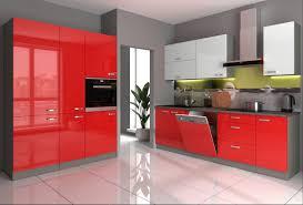 küche vi 240 160 cm küchenzeile in hochglanz rot