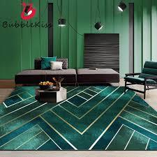 blase kuss gold linie grün muster teppiche für wohnzimmer weichen kristall samt stoff teppich für schlafzimmer nacht sofa bereich teppiche