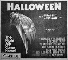 Jamie Lee Curtis Halloween 2 by Halloween 1978 Dir John Carpenter Newspaper Ad Michael