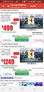 In Store Only- 65 Inch Smart 4k TV At Frys For $499 - Final ...