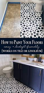 how to paint linoleum how to paint tile painted bathroom