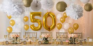 golden 50th anniversary party supplies party city canada