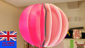 How To Make This Lampion Using Paper Plates Cool Room Decoration