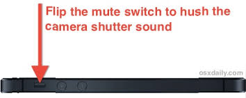Turn f the iPhone Camera Shutter Sound Effect to Take s Silenty