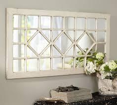 Trellis Mirror Ivory