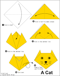 Easy Origami For Kids Catface