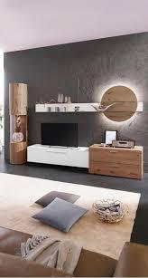 wohnwand in weiß eichefarben wohnen wohnzimmer modern