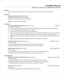 Social Worker Resume Sample Work Templates Doc Free Premium Inside Services