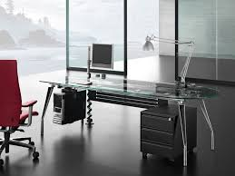 Glass And Metal Computer Desk With Drawers by Office Desk Inspiring Metal Frame Computer Desk In Black Stylish