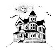 Haunted House Coloring Pages Online Detail Description