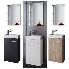 vcm waschplatz waschbecken schrank spiegel wc gäste toilette badmöbel klein schmal garla