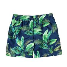 100 Coc Republic O Mens Floral Summer Board Shorts In Navy Blue