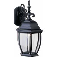 volume lighting 1 light black outdoor wall sconce v8231 5 the