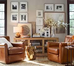Irving Leather Swivel Armchair