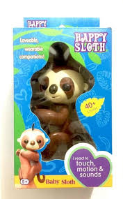 Interactive Panda Fingerlings Happy Sloth