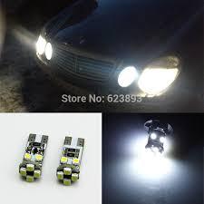 2x t10 car led 501 w5w white canbus no errors parking light bulbs
