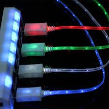 4pcs Glow in the Dark Light up LED USB Data Sync Amazon