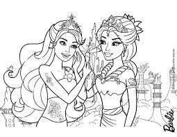 Mermaids Mom And Daughter Barbie Coloring Page More Mermaid Content On Hellokids