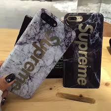 Luxury Fashion supreme Marble gold Phone Cases for iPhone 7 Case Marble case For Apple iphone