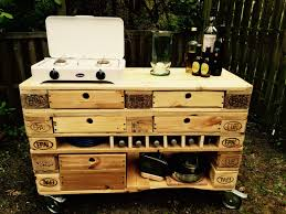 outdoor küche kitchen europaletten palettenmöbel bauen