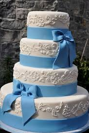 Blue bow · Blue WeddingsBlue Wedding CakesBeautiful